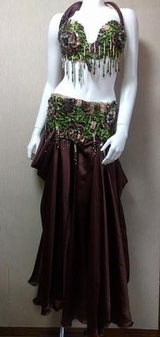 Hanan.特価品Safariカラー、ベリーダンス衣装、フルコスチューム