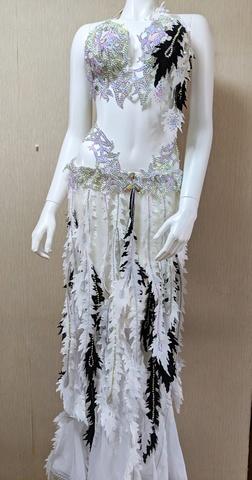 Sol Dance Design・ホワイトマーメイドコスチューム・ベリーダンス衣装フルコスチューム