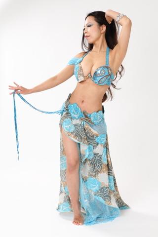 AnnaVoronova・Turquoise Rose & Arabeque・ベリーダンス衣装フルコスチューム
