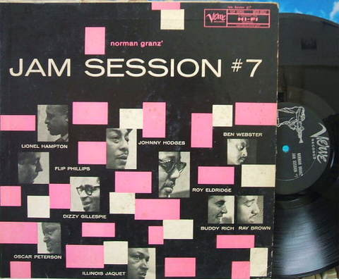 【米Verve mono】Norman Granz' Jam Session #7(Hodges, Webster, Jaquet, etc)