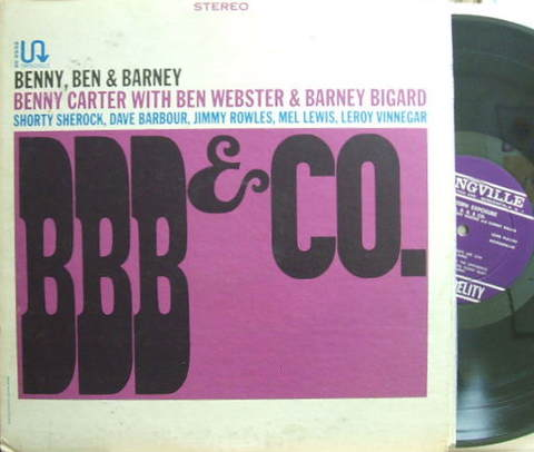 【米Swingville】Benny Carter with Ben Webster & Barney Bigard/BBB & Co