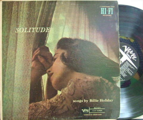 【米Verve mono】Billie Holiday/Solitude (Charlie Shavers, Flip Phillips, Oscar Peterson, etc)