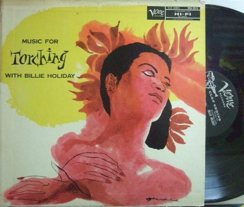 【米Verve mono】Billie Holiday/Music For Torching (Benny Carter, Harry Edison, Barney Kessel, etc)