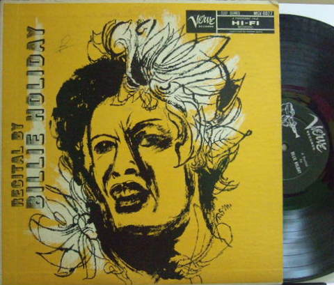 【米Verve mono】Billie Holiday/Recital by Billie Holiday (Flip Phillips, Paul Quinichette,etc)