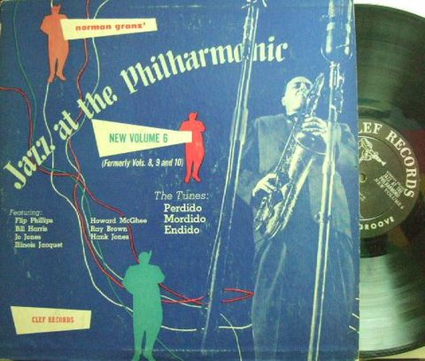 【米Clef mono】Howard McGhee, Illinois Jacquet, Flip Phillips, Hank Jones, etc/Jazz At The Philharmonic New Vol. 6