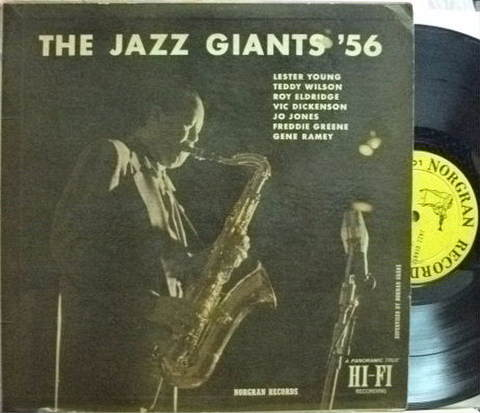 【米Norgran mono】Lester Young, etc/The Jazz Giants '56