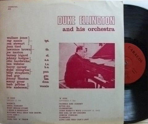 【仏Caracol mono】Duke Ellington/and His Orchestra