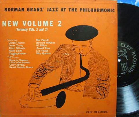 【米Clef mono】Charlie Parker, Lester Young, Dizzy Gillespie, etc/JATP New Vol.2