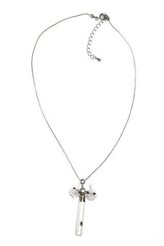 【災害時用】ホイッスルネックレス&ストラップ                   オカメインコ(ホワイト)white