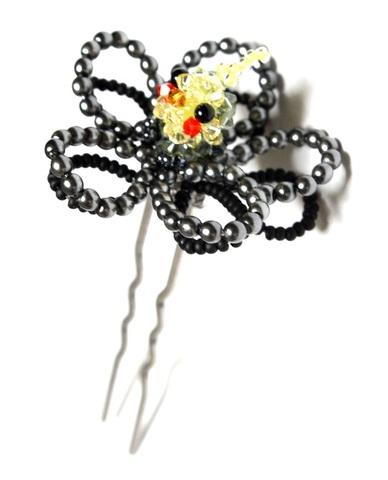 オカメインコ(グレー)                花かんざし