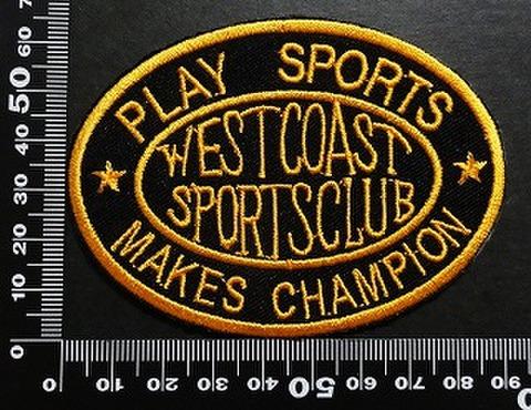 ウエストコーストスポーツクラブ westcoast sportsclub ワッペン パッチ 01977