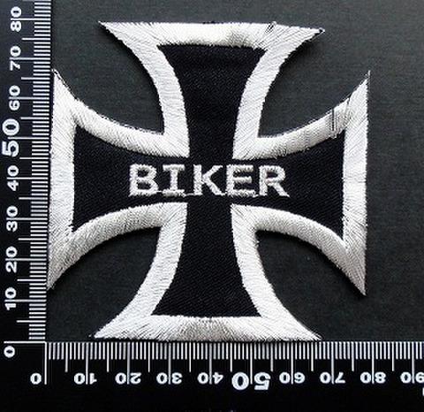 バイカー BIKER クロス  ワッペン パッチ 09477