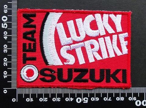ラッキーストライク Lucky Strike ワッペン パッチ SUZUKI スズキ 09510