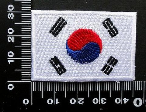 韓国 韓流 国旗 ワッペン パッチ 09867