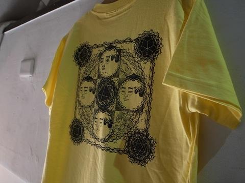 "BLACKDALLAS/ブラックダラス""プラトン曼荼羅""(BLUE/YELLOW) Tシャツ Artwork by ESSU/えすう"