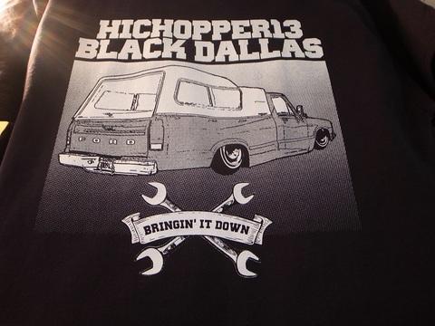 """BLACK DALLAS/HICOPPER13""""1980""""Tシャツ(BLACK)"""