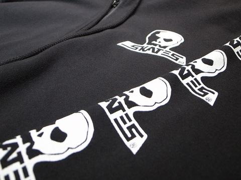 "SKULL SKATES(スカルスケーツ)""ロゴ"" ジップパーカー(ブラック)"