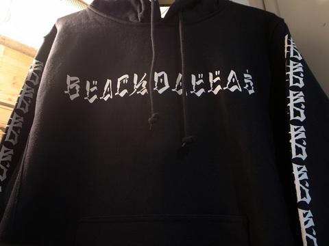 """BLACKDALLAS/ブラックダラス""""BD25""""パーカーPULL OVER袖プリVer.(BLACK)USUGROW"""