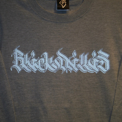 "BLACK DALLAS(ブラックダラス)""KAKUSHIN LOGO"" ロンT(リフレクター)Artwork by MOZYSKEY(文字図形)"