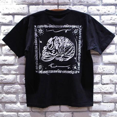 """ORGANIC CONTRAST(オーガニックコントラスト)""""LIFE SKULL"""" Tシャツ(ブラック/グレー)Art work by USUGROW(ウスグロ) ■USUGROW"""