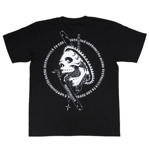 "ORGANIC CONTRAST(オーガニックコントラスト)""SKS SKULL"" Tシャツ Artwork by USUGROW (ウスグロ)"