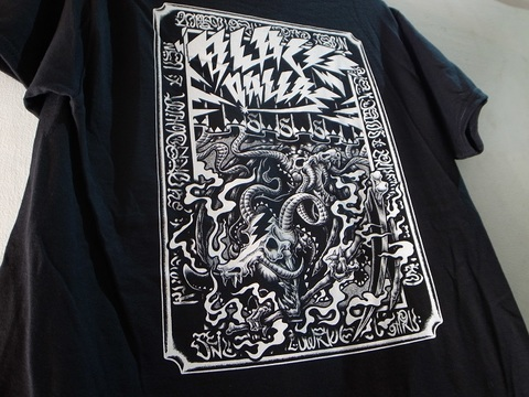 BLACKDALLASブラックダラス/BD666 ポケットTシャツ ArtWork by UCANxKHART(BLK/WHT)