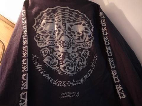 """BLACKDALLAS/ブラックダラス""""4L""""ポケットロンT 袖プリver.(BLACK/GRAY)USUGROW"""
