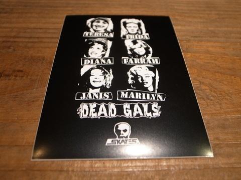 スカルスケーツSKULLSKATES/ステッカー(DEAD GALS)