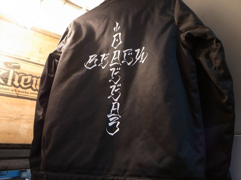 "BLACKDALLAS/ブラックダラス BLUCO(ブルコ)""BD CROSS WORK JACKET""(BLACK)USUGROW"
