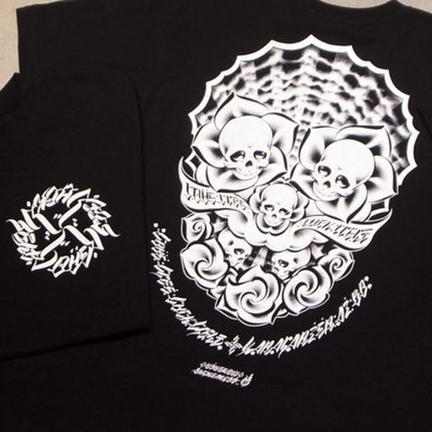 """BLACK DALLAS (ブラックダラス)""""4L"""" Tシャツ Artwork by USUGROW(ウスグロ)"""