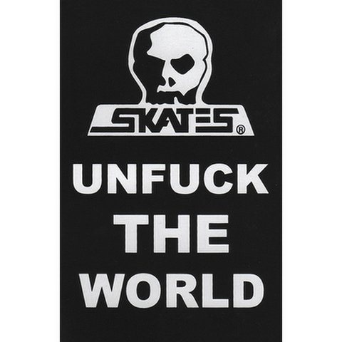 """SKULL SKATES(スカルスケーツ)""""Unfuck the World"""" ステッカー"""