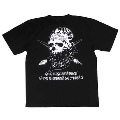 """ORGANIC CONTRAST(オーガニックコントラスト)""""REBEL INK"""" Tシャツ(BLACK)Artwork by USUGROW (ウスグロ)"""