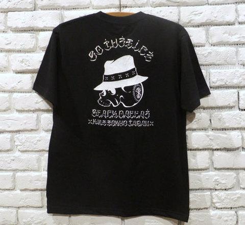 """BLACK DALLAS ブラックダラス """"LOCAL SKULL"""" Tシャツ Artwork by USUGROW ウスグロ"""