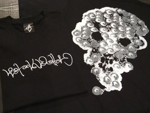 "BLACK DALLAS ブラックダラス ""朱のべん×BD"" Skull Tシャツ Artwork by SYUNOVEN 朱乃べん"
