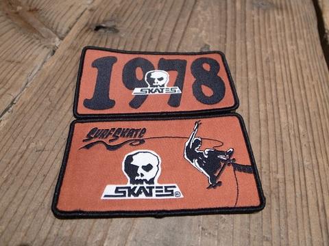 スカルスケーツSKULLSKATES/WOVENワッペン(1978/SURF SKATE)