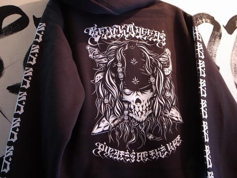 "BLACKDALLAS/ブラックダラス""KMT PIRATES"" ZIP UP HOODIE"