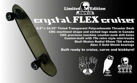CRYSTAL FLEX CRUISER・SKULLSKATESクルージング用スケートボードスカルスケーツ