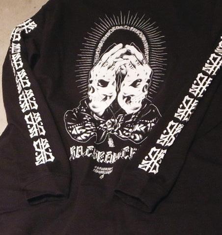 """【限定商品】BLACKDALLAS(ブラックダラス)""""BD CHRONICLE"""" 袖プリント入り ロンT(ブラック)Artwork by USUGROW(ウスグロ)"""