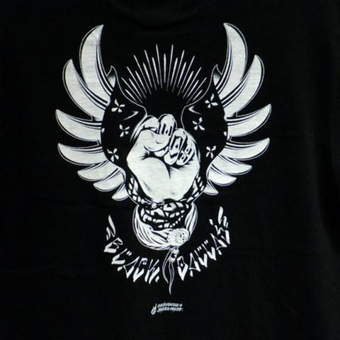 """BLACK DALLAS ブラックダラス """"RISE"""" Tシャツ Artwork by USUGROW ウスグロ"""