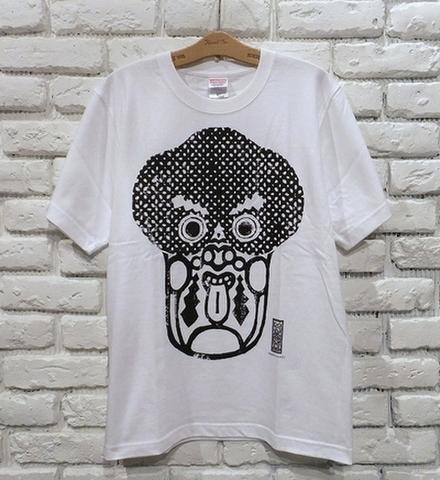 唐人さま Tシャツ(白x黒)・WOODBRAIN/水面花木工