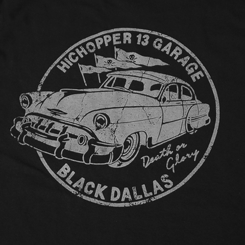 "HICHOPPER 13 GARAGE × BLACK DALLAS(ハイチョッパー13 × ブラックダラス)""Bel Air"" パーカー(ブラック)"