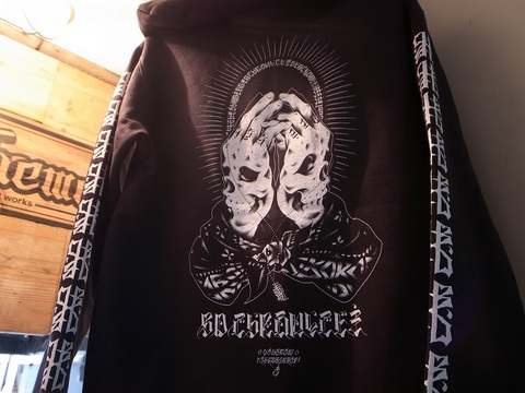 "BLACKDALLAS/ブラックダラス""BD CHRONICLE"" ZIP UP HOODIE/袖プリver."