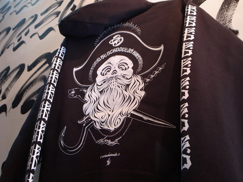 "BLACKDALLAS/ブラックダラス""KMT PIRATES Ⅲ"" ZIP UP HOODIE"