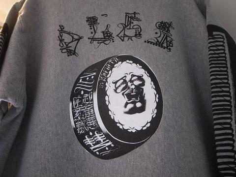 """BLACKDALLAS/ブラックダラス""""武羅悪陀羅数""""ぶらっくだらすう(GRAY)HEAVYWEIGHTスウェット/ESSUえすう"""