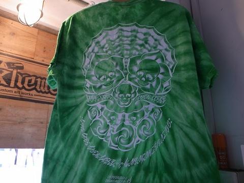 """BLACKDALLAS/ブラックダラス""""4L""""(TAIDAI/タイダイ/ターコイズ.グリーン)Tシャツ/USUGROW"""