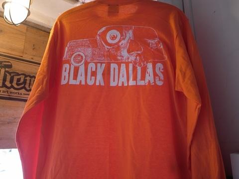 "BLACKDALLAS/ブラックダラス""DEATH WAGON""(NAV/ORG)ロングスリーブTシャツ"