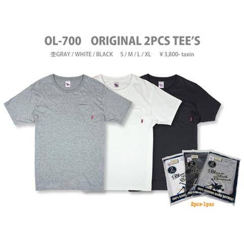 """BLUCO (ブルコ)""""ORIGINAL 2PCS TEE'S"""" オリジナルTシャツ2枚セット"""