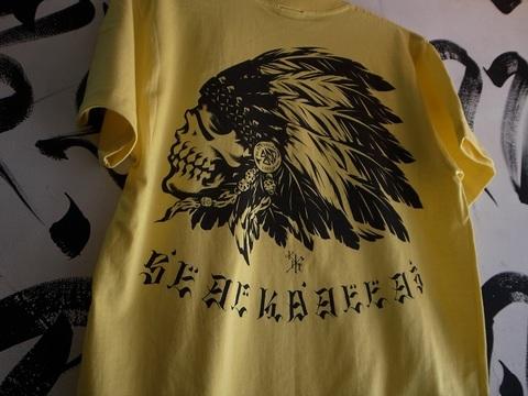 """BLACK DALLAS/ブラックダラス""""BD M/G"""" Tシャツ(YERROW・BLUE)Artwork by USUGROWウスグロ"""