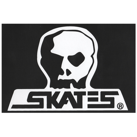 "SKULL SKATES(スカルスケーツ)""ロゴ"" ステッカー(Lサイズ)"