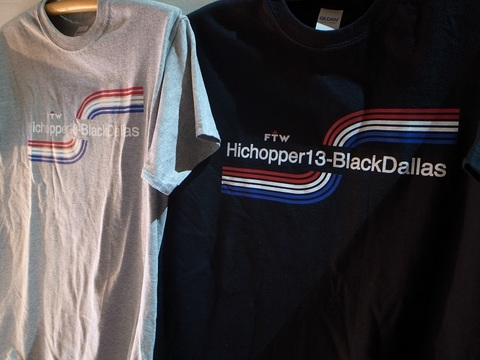 "BLACKDALLAS/HICHOPPER13""RAINBOW""Tシャツ(BLACK/GRAY)"